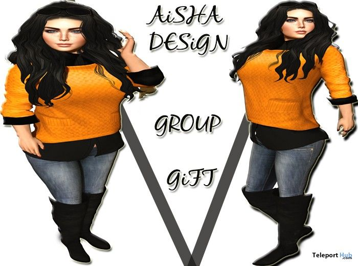 Shirt Sweater & Jeans and Boots Group Gift by Aisha Design