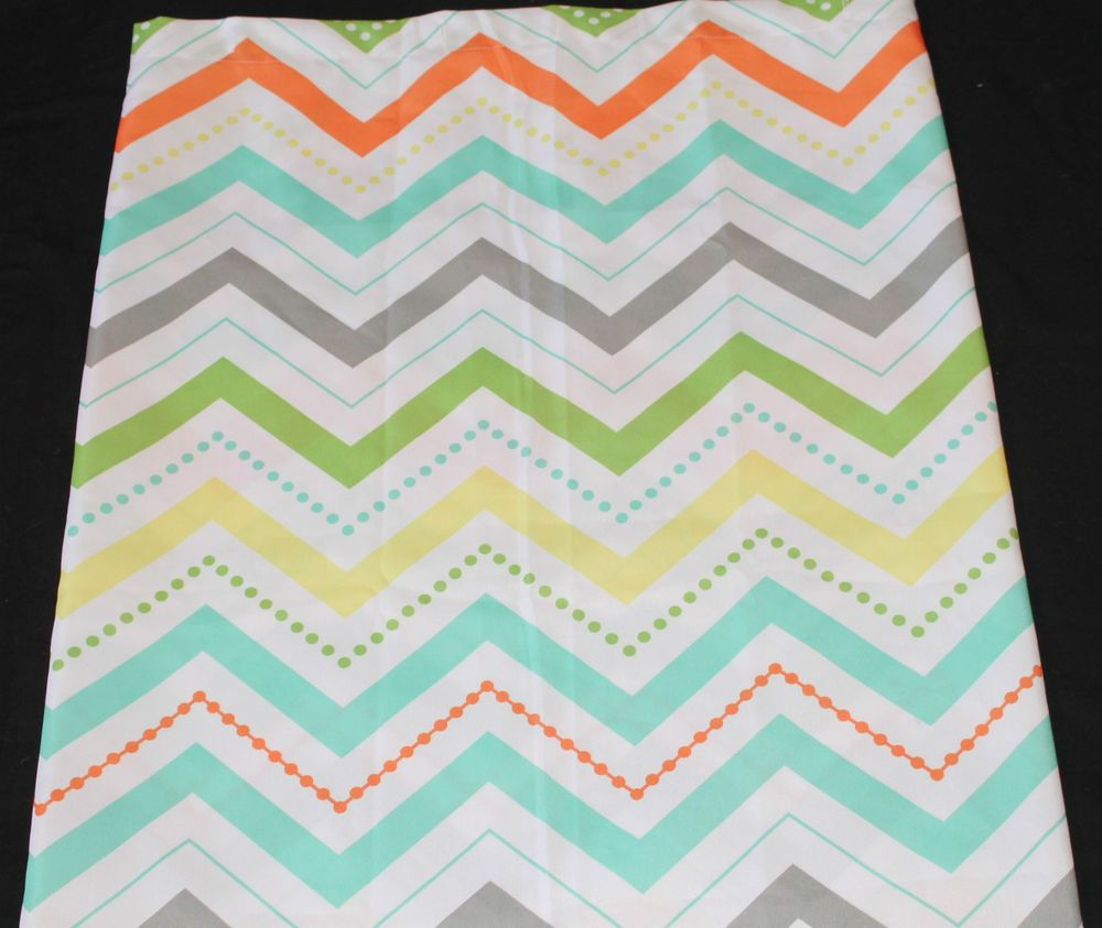 From Target # Circo Chevron Fabric Shower Curtain Green Yellow Orange 72x72  Nwop #Circo