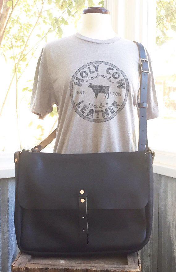 Messenger Bag by HolyCowLeatherGoods on Etsy