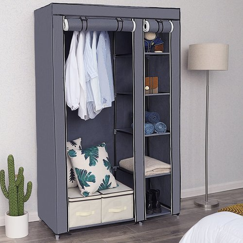 Songmics 110cm Wide Portable Wardrobe In 2019 Clothes Storage