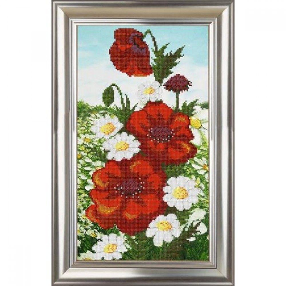 Рисунки цветов для вышивки бисером