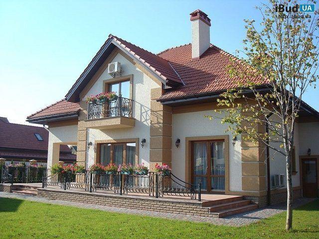 Коттеджный дом фото, Частные дома | ibud.ua | Дом, Фасады ...