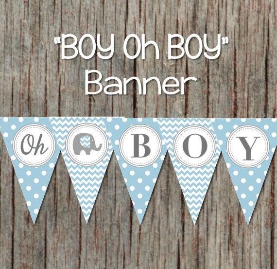 Boy Oh Boy Printable Baby Shower Banner By Bumpandbeyonddesigns