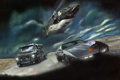 A Team Van Movie Cars Wolf Knight Classic