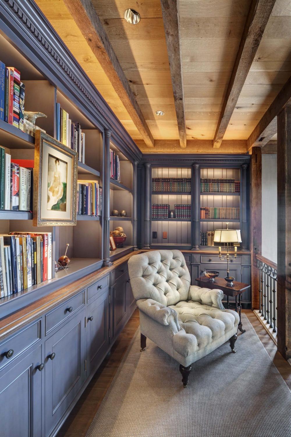 Living Room Library Design Ideas: Impressive Home Library Design Ideas