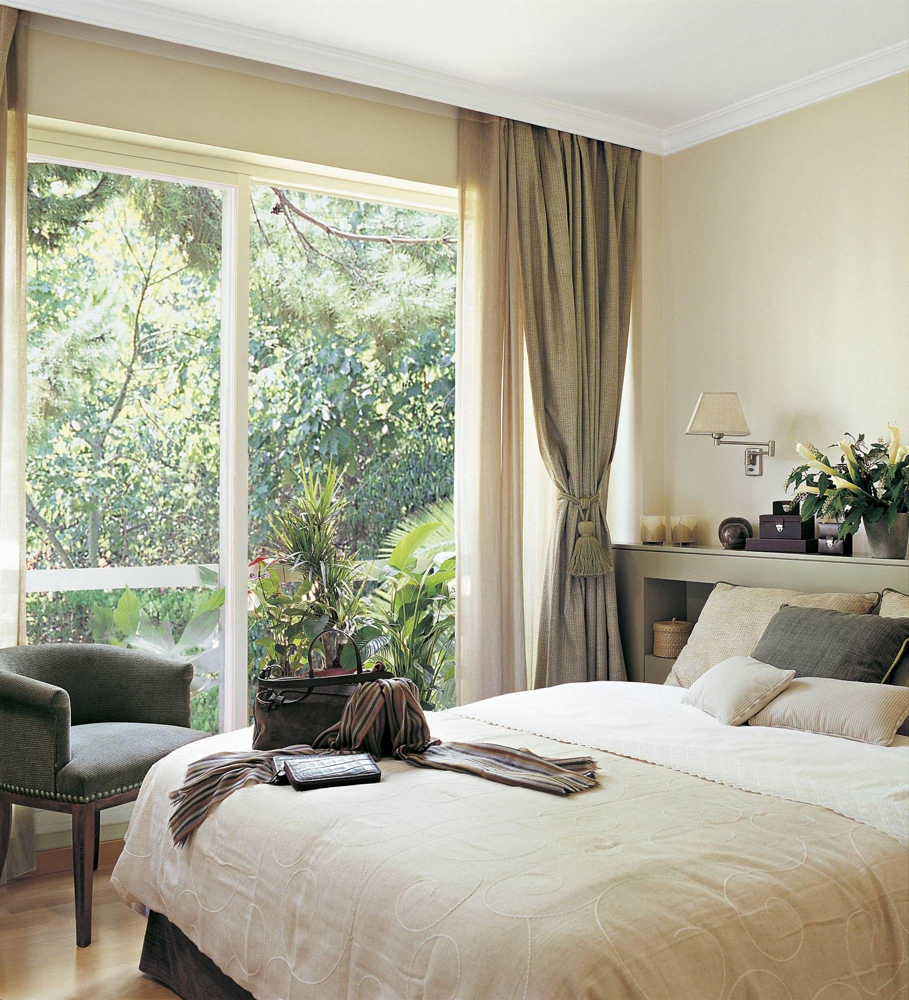 La forma de la ventana ba os dormitorio con ventanales - Formas de cortinas ...