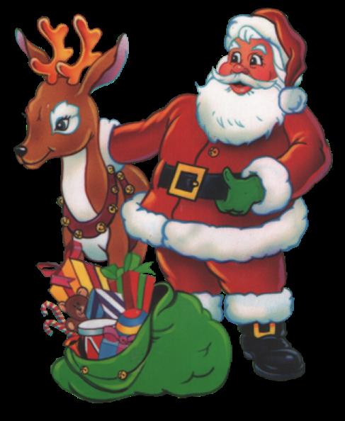 Reindeer Santa Claus Christmas Ornament Deer For Christmas 487x594 Deer Cartoon Cartoon Animals Christmas Ornaments
