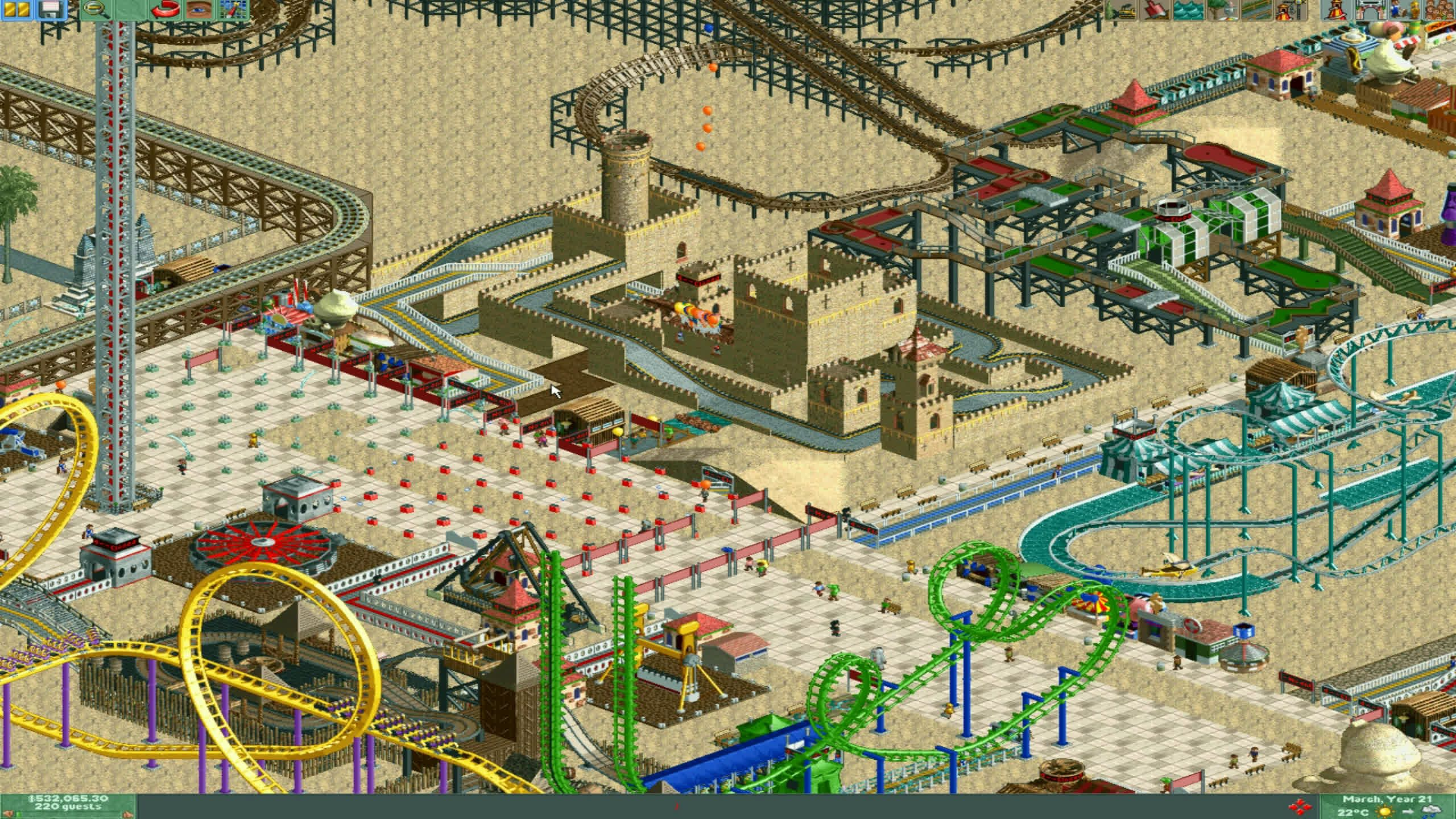 My favourite part in Rollercoaster Tycoon 2 | LatestGames