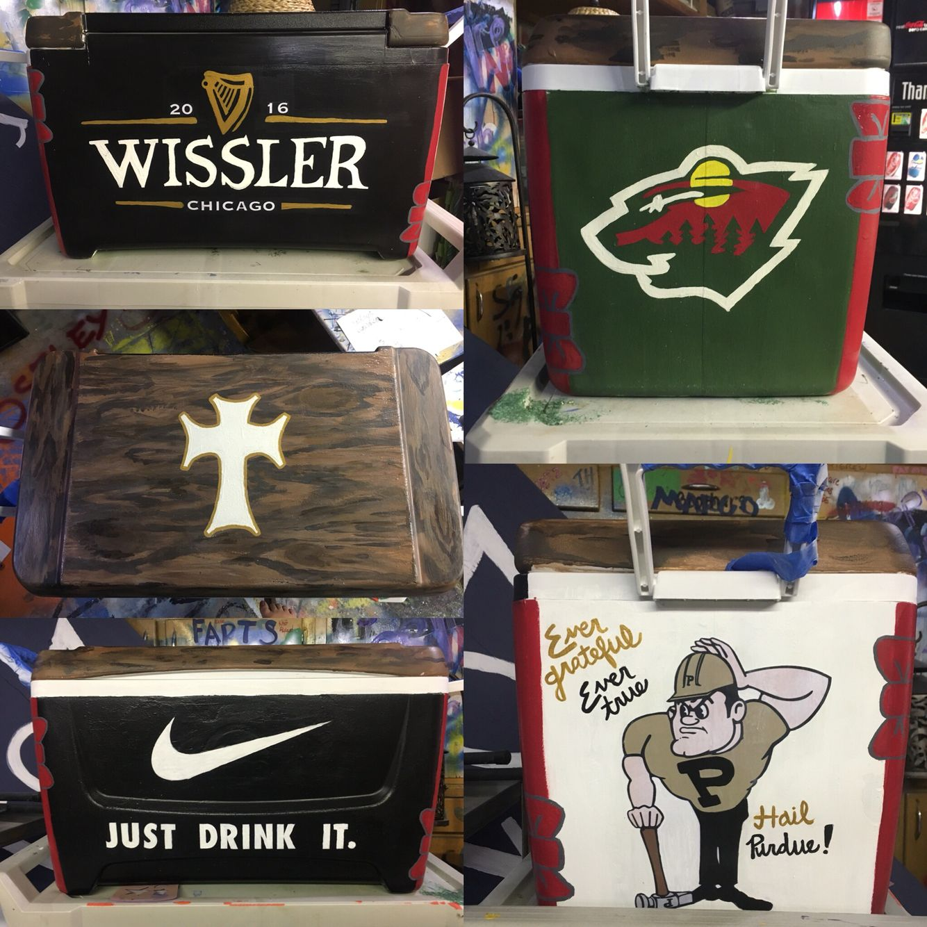 Color printing purdue - Fraternity Cooler Purdue Sigma Chi Crafting