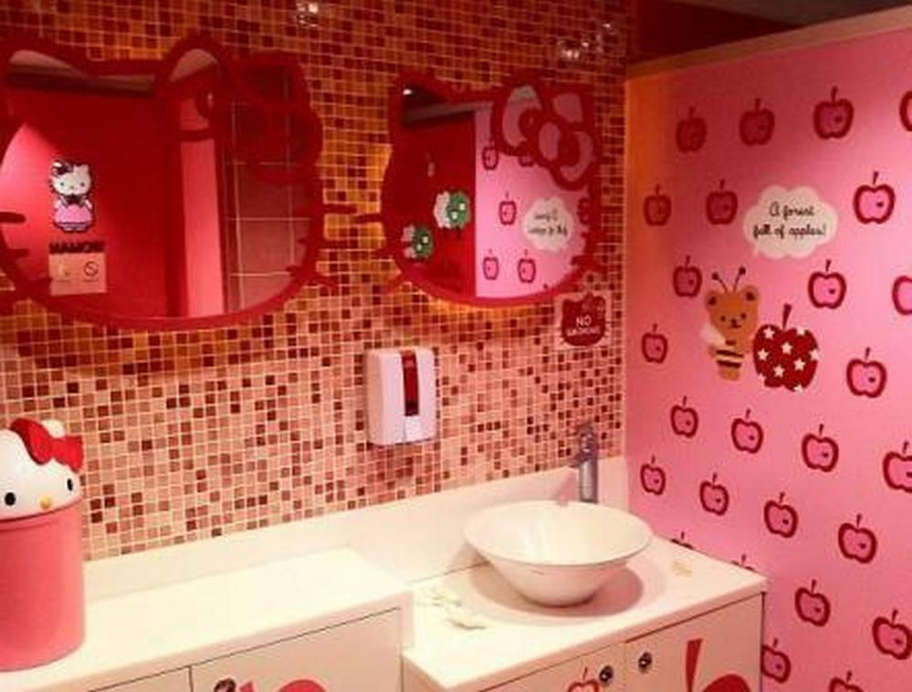 Hello Kitty Bathroom Tiles New Decorating