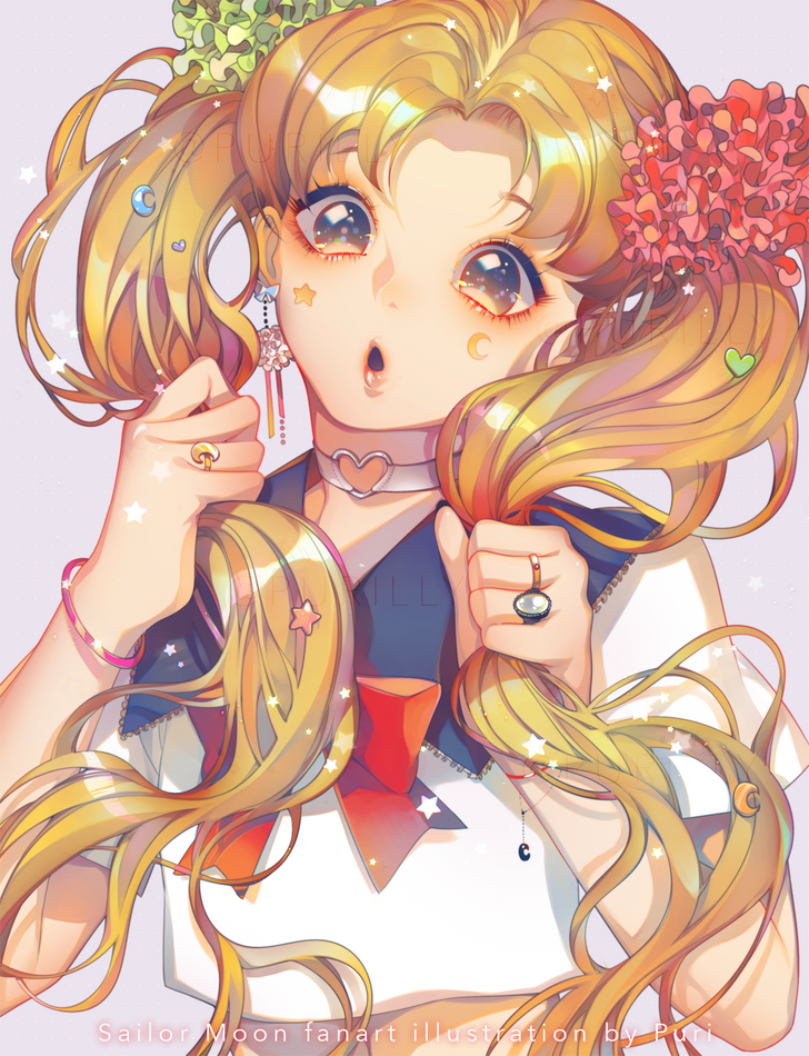 I love this fanart of Sailor Moon! Sailor moon wallpaper