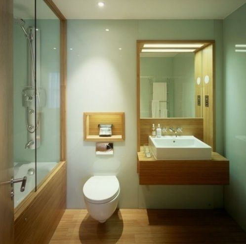 Modern Bathroom With Bamboo Flooring Bamboo Bathroom Green