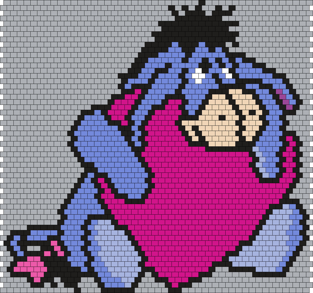 Eeyore hugging a heart (Peyote/Brick Stitch Pattern) | Beaded Wraps ...