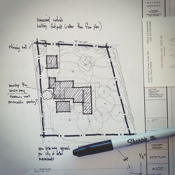 Architectural Sketch Site Plan Line Weight Architectural