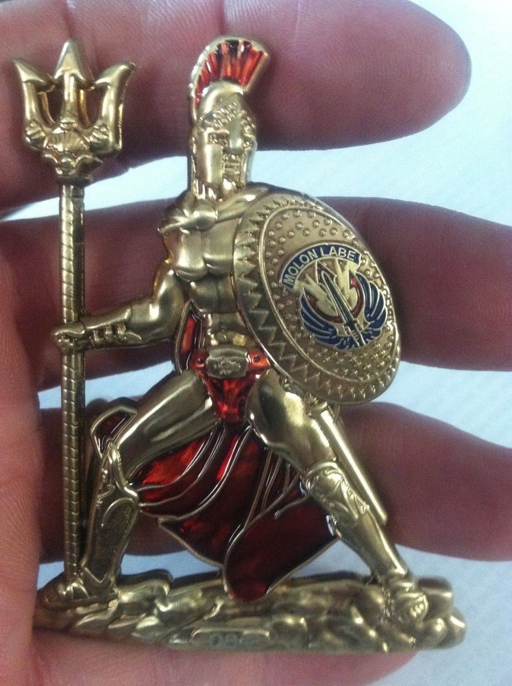 Spartan Warrior Navy Chief Coin Cpo Coin Challenge Coin