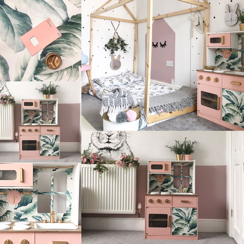 Asda / Ikea kids play kitchen renovation / transformation