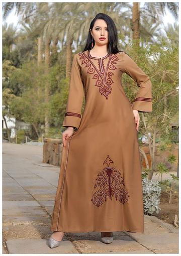 جلابيات نسائية جلابيات خليجية جلابية قطن متجر الملكة Long Sleeve Dress Fashion Casual Dress