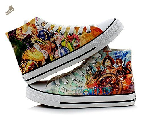 473635393dde One Piece Luffy Cosplay Shoes Canvas Shoes Sneakers Colourful 3 ...