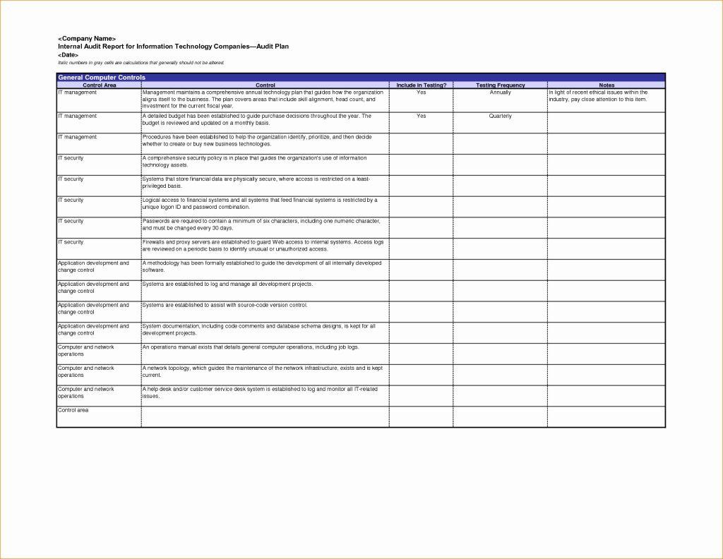 Internal Audit Forms Template New Excellent Internal Audit