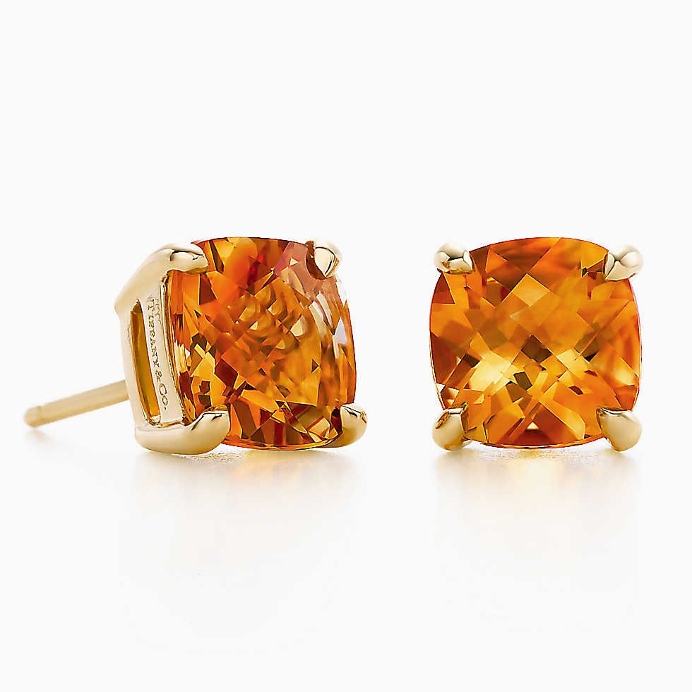 Tiffany Sparklers Citrine Earrings In 18k Gold