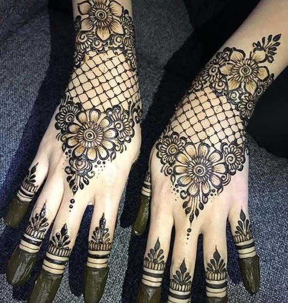 Make Your Henna Tattoo Last Longer Using Saniderm: Last Night Bridal Henna Session. A Sweet Floral Netting