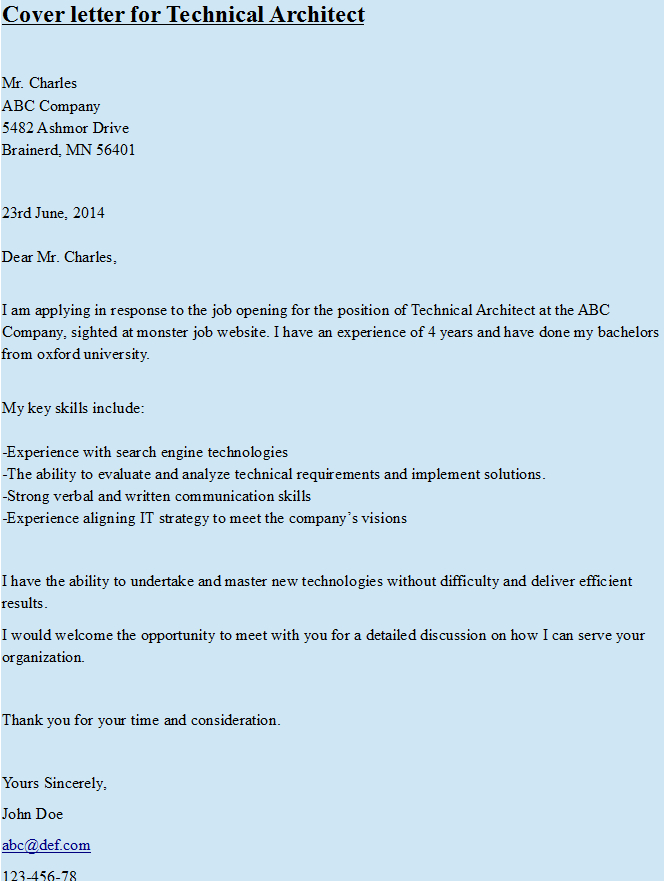 Solution Architect Resume Cover Letter For Technical Architect Httpshipcv  Hipcv .