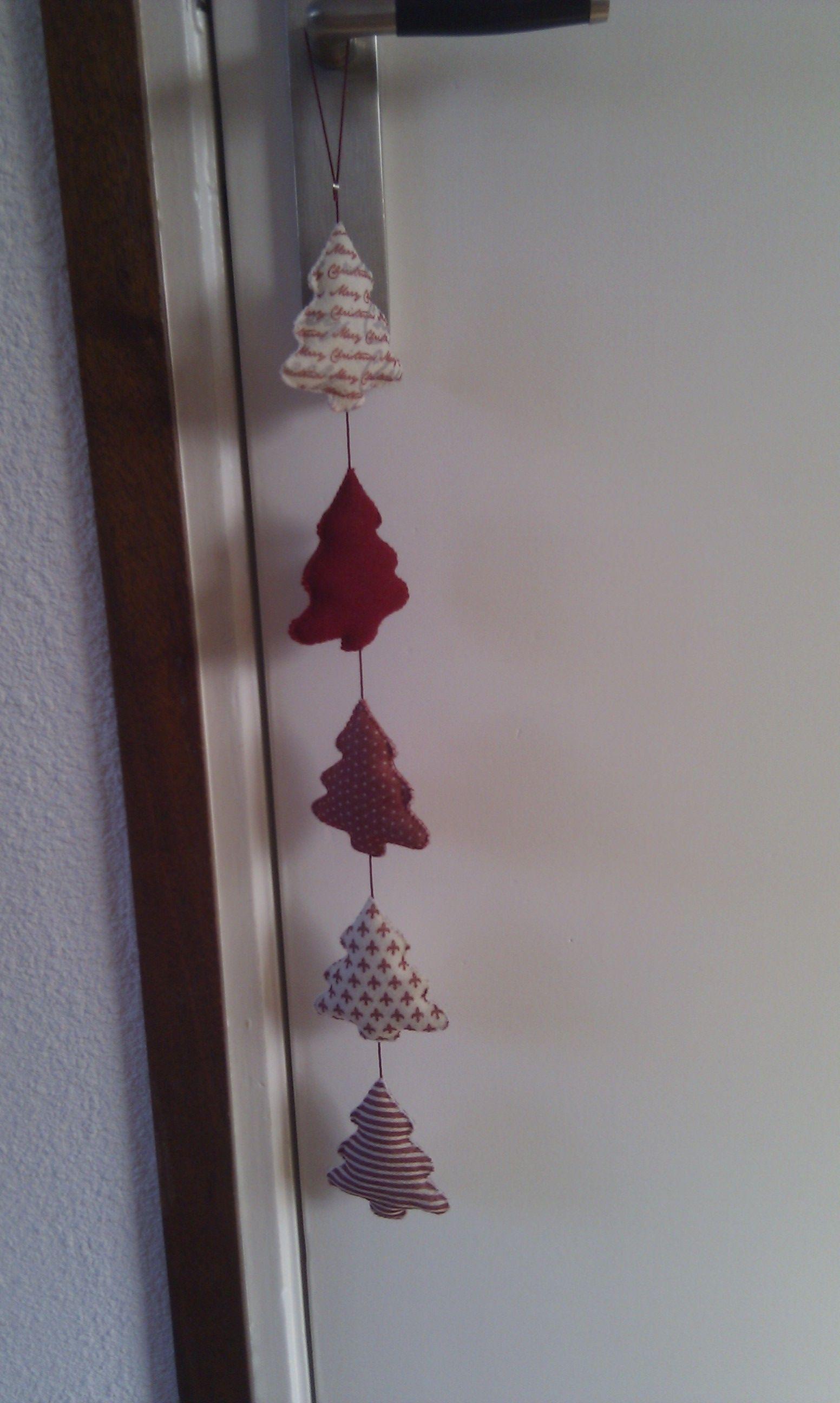 Kerstslinger boompjes   kerst   Pinterest