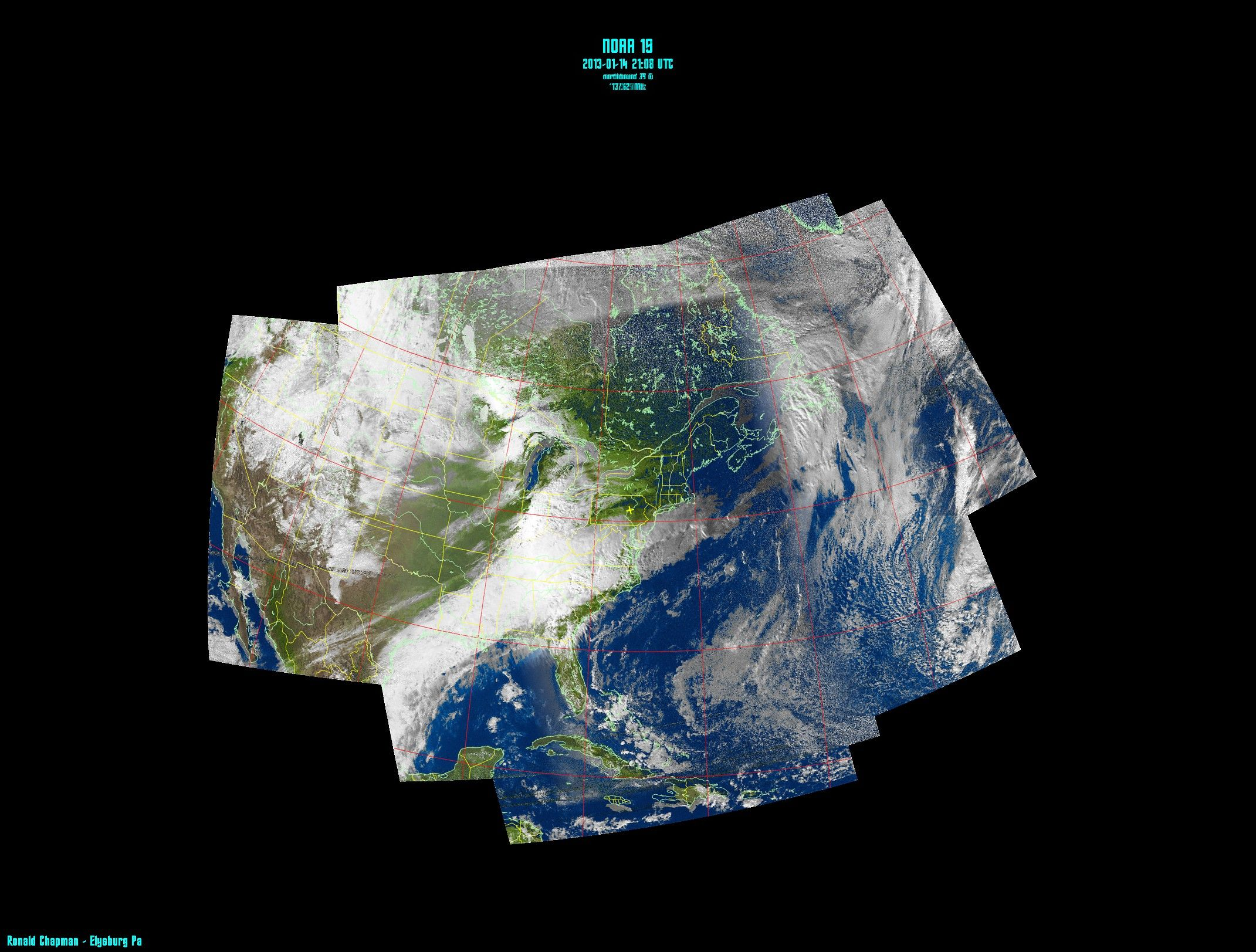1142013 This is a composite NOAA weather satellite image