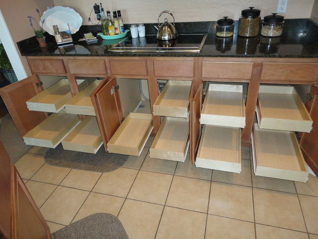traditional kitchen cabinets from How To Install Sliding Shelves In ...