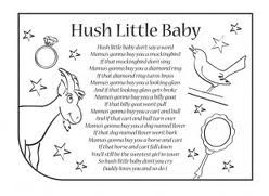 Hush Little Baby Lyrics Google Search Nursery Rhymes Songs Rhyme Crafts