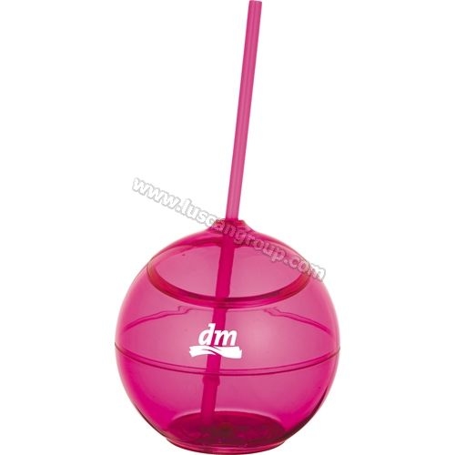 Promotional Products Ideas that work: Fiesta 20-oz. ball with straw - summer fun products. Get yours at www.luscangroup.com
