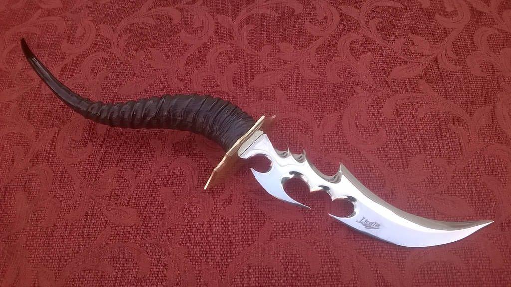 Fantasy Blade With Blesbok Horn By Https://www.deviantart