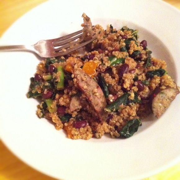 Recipe: Mesquite-spiced quinoa with sausage and black beans
