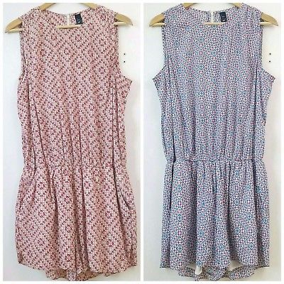 Gap womens XLarge multicolor sleeveless short jumpsuit rompers (2) Blue Red B3