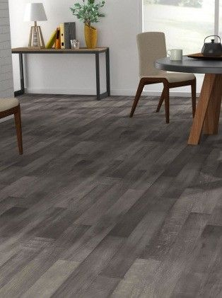 sol vinyle imitation parquet gris luna lub ron saint maclou travaux chambres d 39 h tes. Black Bedroom Furniture Sets. Home Design Ideas