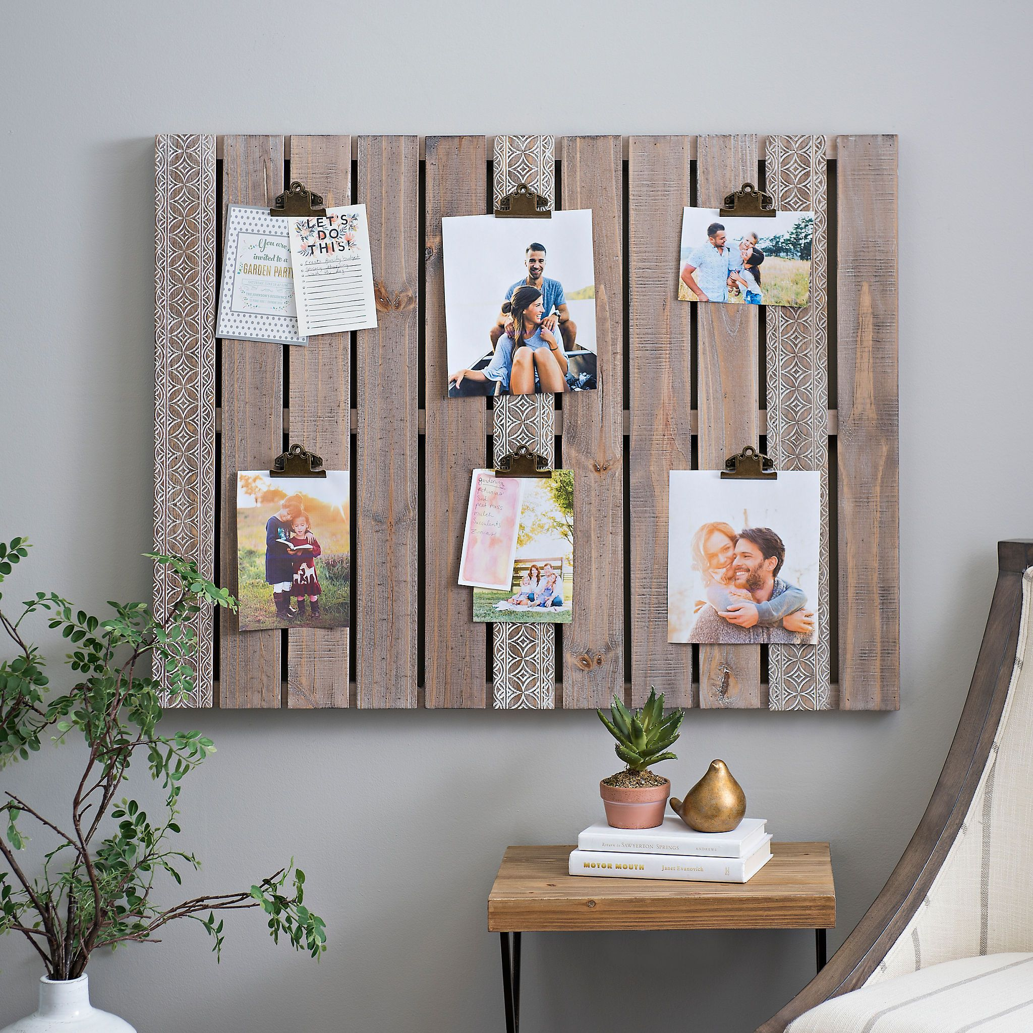 Aubrey Wood Pallet Clip Collage Frame With Images Pallet Wall