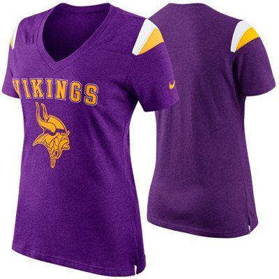 Nike Minnesota Vikings Ladies Fan V-Neck T-Shirt - Purple  02338e809