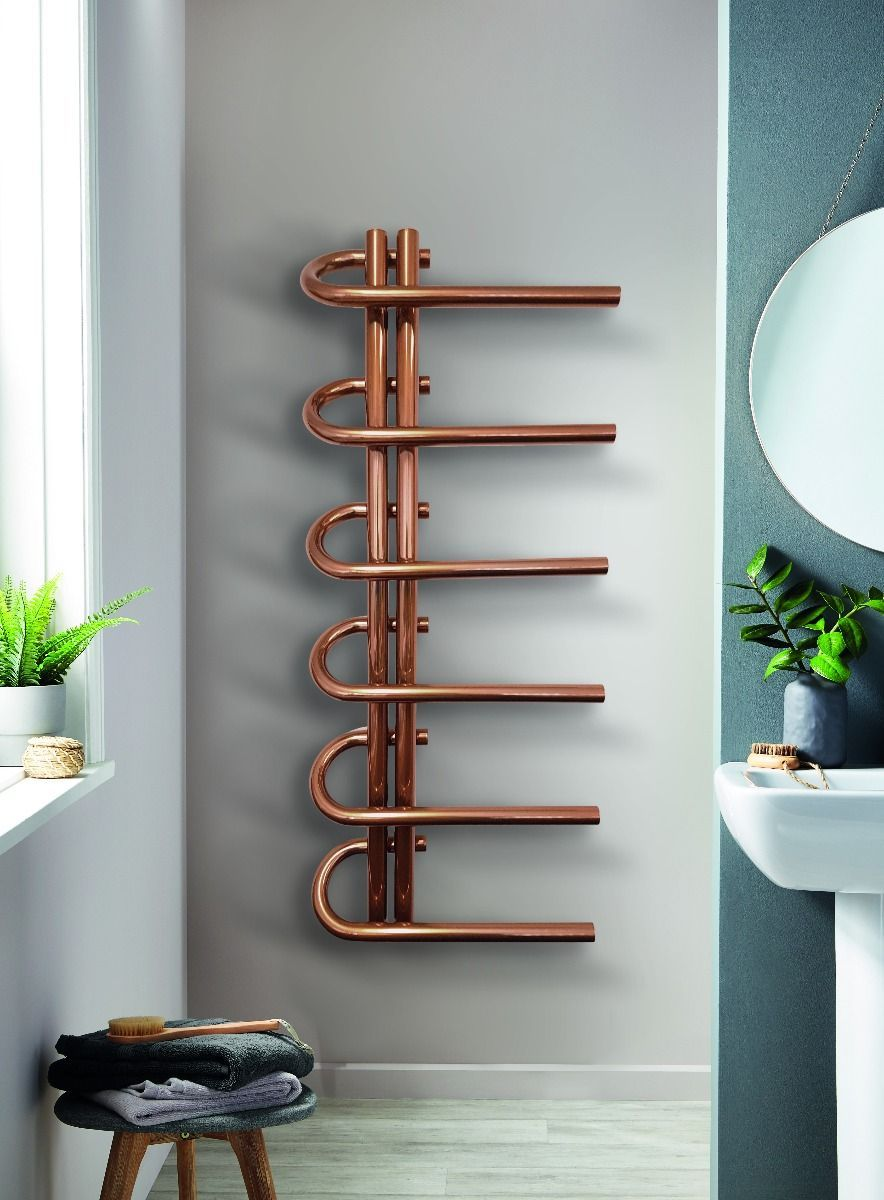 Photo of DQ – Jango – Towel radiator made of stainless steel – copper