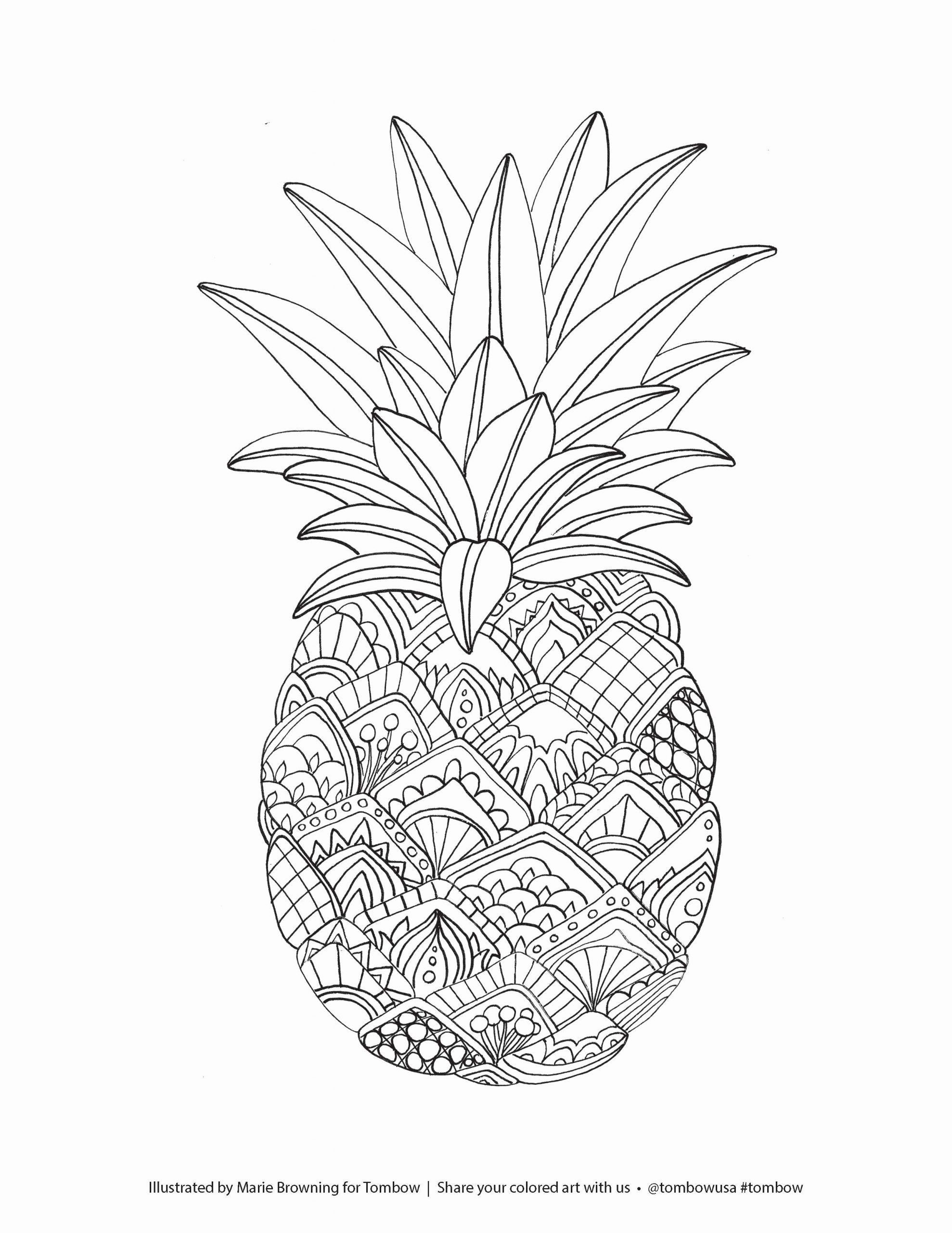 Cute Fruit Coloring Pages Fruits Coloring Pages Printable Pineapple Coloring Page In 2020 Fruit Coloring Pages Mandala Coloring Pages Animal Coloring Pages