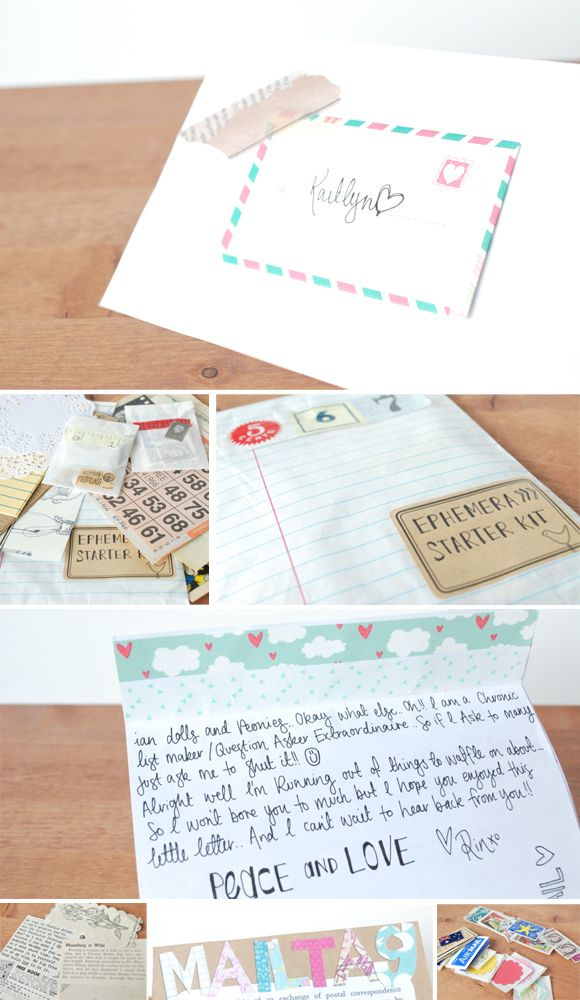 Great idea for a little gift to include in mail art Mail Art - new letter envelope address format canada