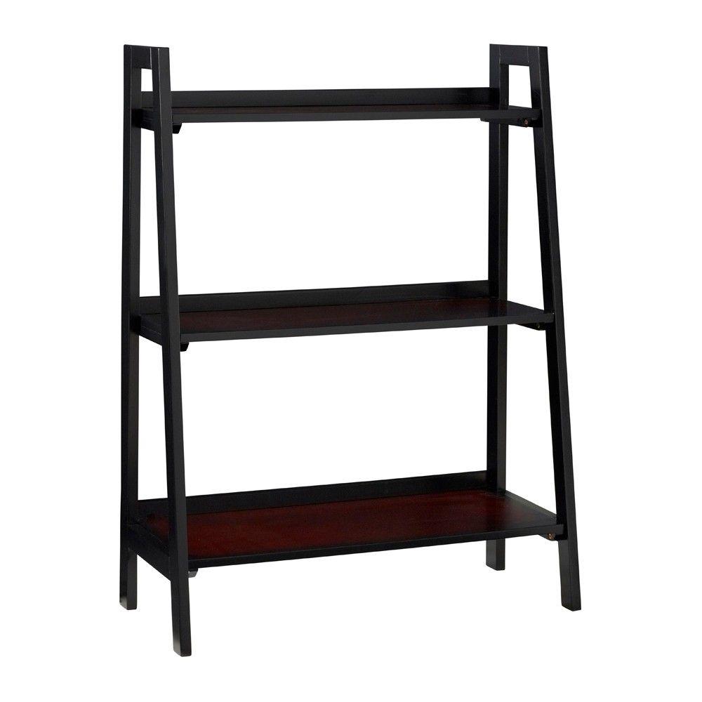 Camden 40 3 Shelf Ladder Bookcase Black Cherry