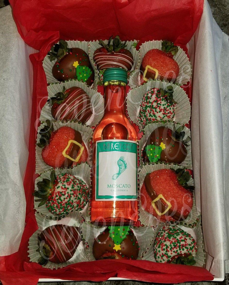 Christmas Wine Gift Set Wine Christmas Gifts Strawberry Gifts Christmas Strawberry