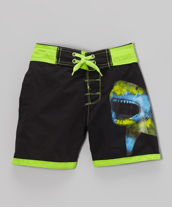 808ba8facb Black Shark Swim Trunks - Infant, Toddler & Boys by Candlesticks  #zulilyfinds