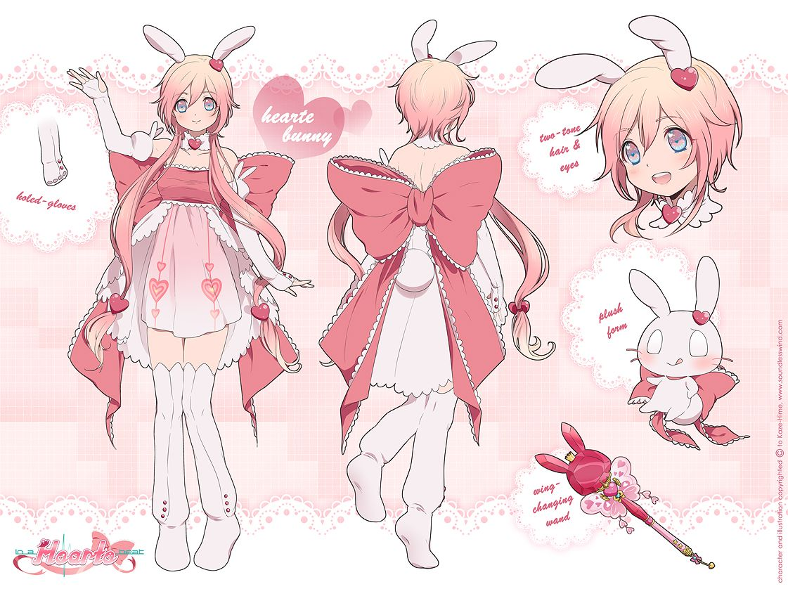Hearte Bunny Reference Sheet by Kaze-Hime.deviantart.com on @deviantART