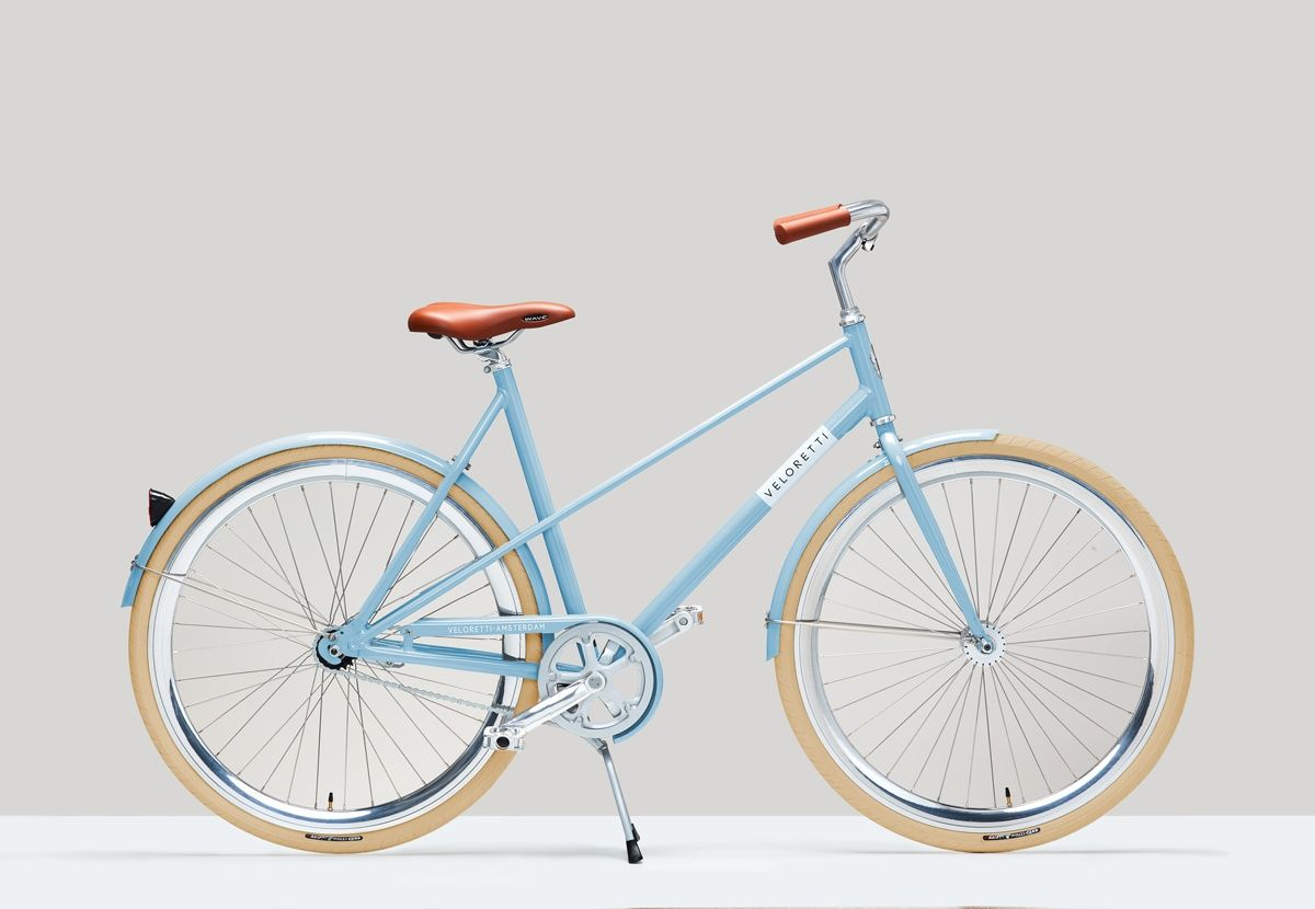 Veloretti Caferacer Damesfiets Havana Blue But With A Double