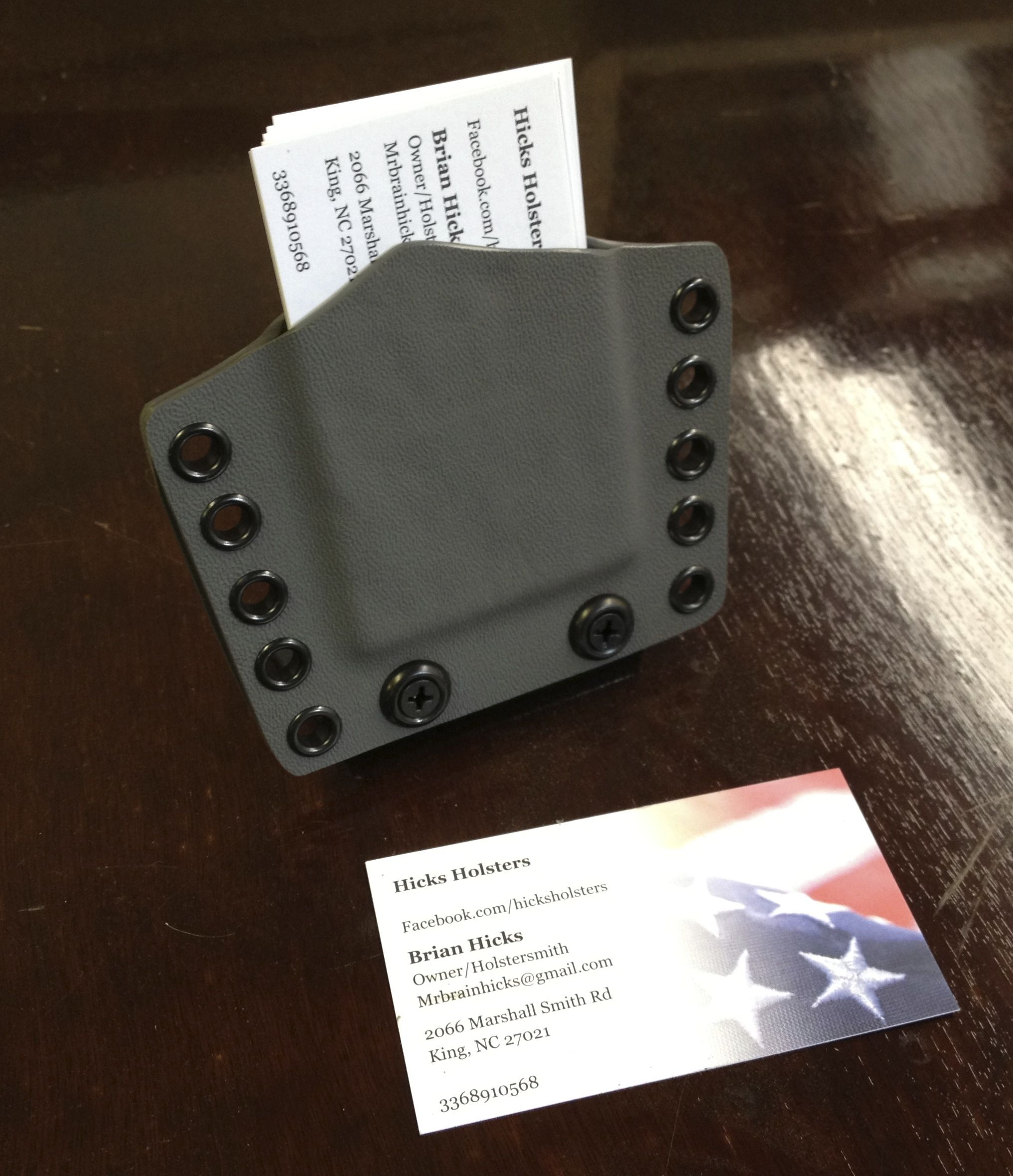 Tactical business card holder for the gun enthusiast for Police business card