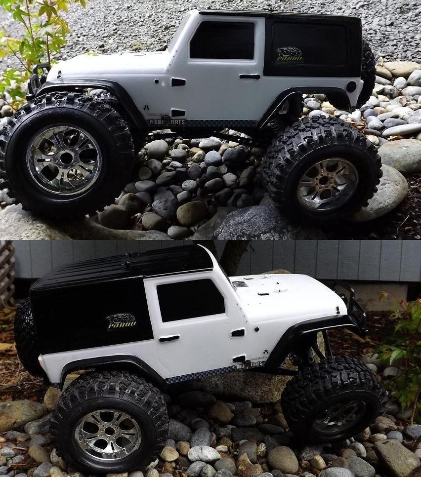 Jeep Wrangler Custom Axial RTR SCX10 RC Rock Crawler Pitbull