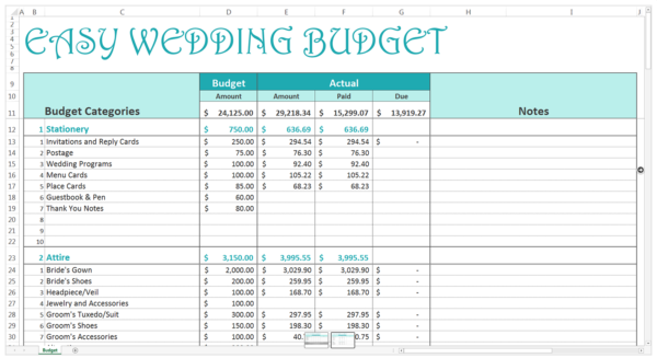 Free Household Budget Spreadsheets For   Budgeting