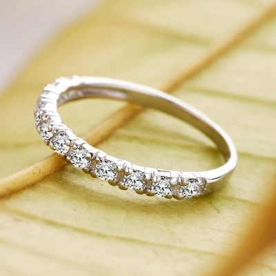 Romantic Shiny Zircon Silver Plated Ring Romantic Ring and