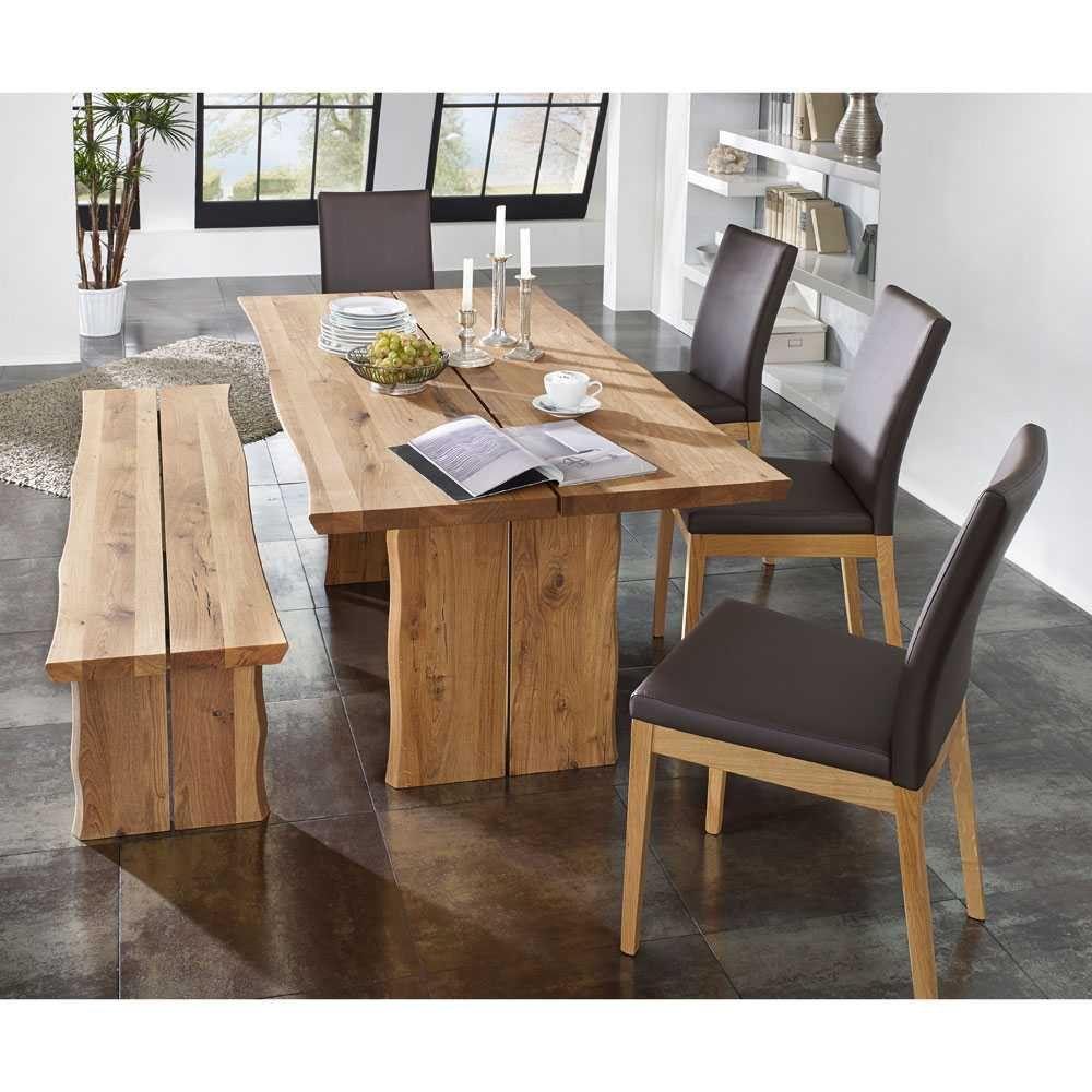 Tischgruppe Flacon aus Wildeiche Massivholz (6-teilig)